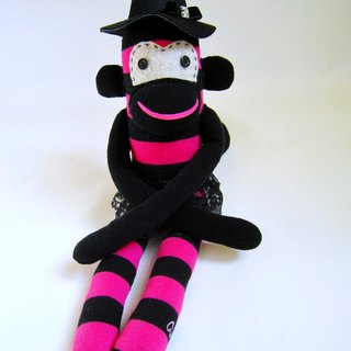 Sock monkey peach gas Witch