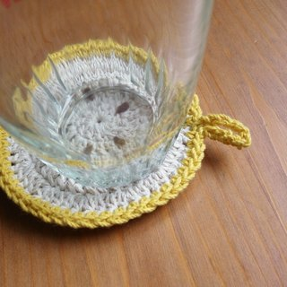 Banana slice coaster