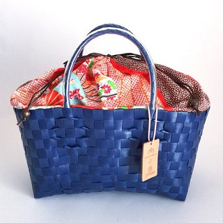 Plabag with Kimono - manakaban and jollies collaboration blue