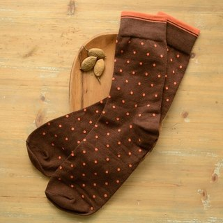 Fruit good color colored polka dot gentleman socks deep coffee