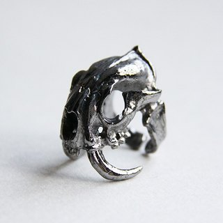 Saber Tooth Tiger Ring - Black Ruthenium