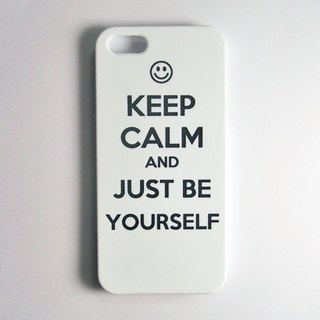 SO GEEK 手機殼設計品牌 THE KEEP CALM GEEK JUST BE YOURSELF款(白)