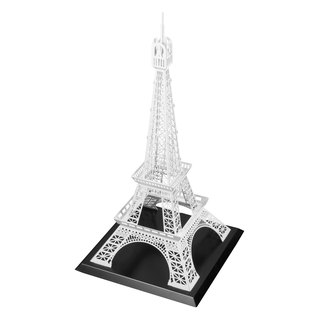Dong Qi metalworking] [OPUS Eiffel Tower in Paris, France Metal model building / coffee shop decoration / studio decoration / LOFT style / installation art / master bedroom window decorations props (elegant white)