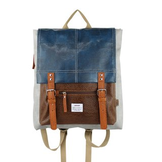 AMINAH- gray bag backpack [am-0254]