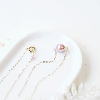 Suede bright pearl wish clavicle elegant necklace 14K GF gift natural stone light jewelry feminine