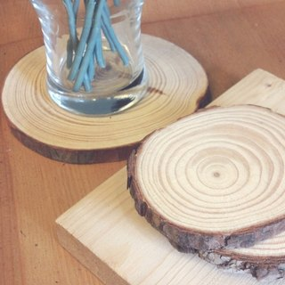 Wood coaster base