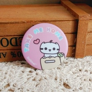 Dollmei badge Take me home cute cat _ _ pink 4.4cm