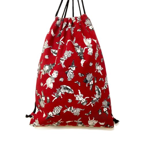 Wonderland on your bag Backpack - Crimson