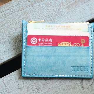 Make Your Choicesss hand-stitched Italian leather coin purse scattered rectangular wrap clip card holder card sets