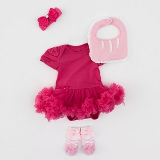 La Chamade /Baby Girl tutu bodysuit Gift Set(Barbie)