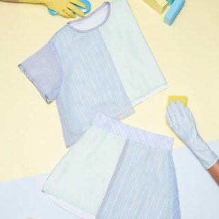 Hemming asymmetrical tops