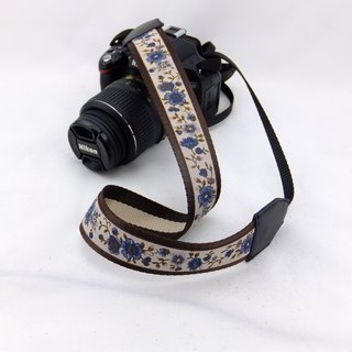 Camera strap can print personalized custom leather stitching national wind embroidery pattern 025
