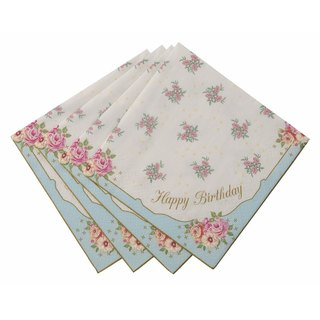 """Wonderful taste § Happy Birthday napkins"" Britain Talking Tables Party Supplies"