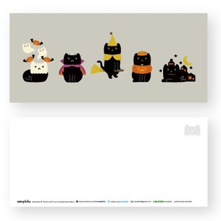 Hime's cats My Cat Postcard Halloween