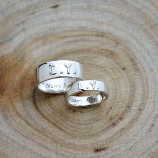 【Customize】Rings for us ( couple rings, engravable, 925 silver) - C percent