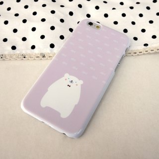Polar Bear Purple Print Soft / Hard Case for iPhone X,  iPhone 8,  iPhone 8 Plus,  iPhone 7 case, iPhone 7 Plus case, iPhone 6/6S, iPhone 6/6S Plus, Samsung Galaxy Note 7 case, Note 5 case, S7 Edge case, S7 case