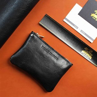 [Zipper Coin case coin purse] kangaroo leather / goatskin lightweight zip coin purse