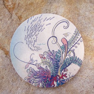 Jungle Find jungle to find / meticulous illustrator / ceramic water coaster - Underwater World