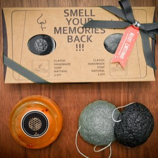 RanRan1913 [Light] · Gift pollen honey soap gift set | gift Konjac Sponge B stars