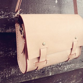 Handmade Genuine leather messenger bag  | for women | Engraving service is FREE.