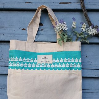 Nordic Green Lake Flower pattern Bag / handbag / shoulder bag / All cotton / handmade / occupied / gifts / birthday gift