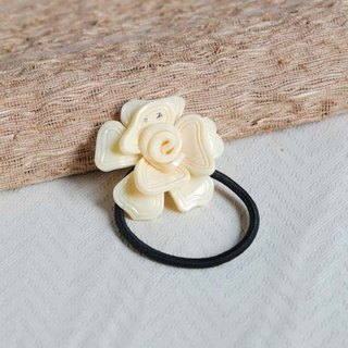 Magnificent dance, flower single strand of hair, hair band - ivory white