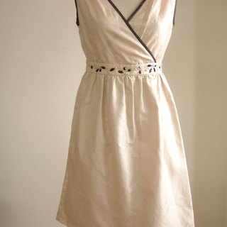 Small waist dress - Beige