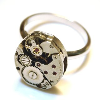 Steampunk Steam Punk Style Movement 17 JEWELS Ring
