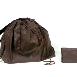 Bag raincoat (dark brown)