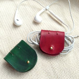 Leather handmade*headset hub December Christmas Limited** Valentine red + green group Friends Limited
