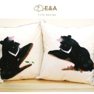 Taiwan black bear pillow four sets