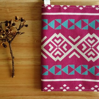 Kyoto fabric Passport Holder - Totem (purple)