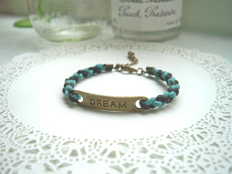A dream come true bracelet - (woven) - Optional color. Fill in the remarks column