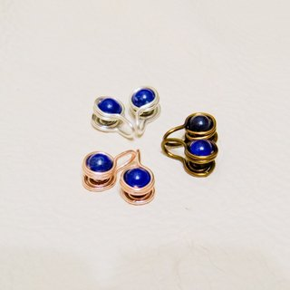 Ear clip(lapis lazuli).please choose 2 if you want to buy a pair