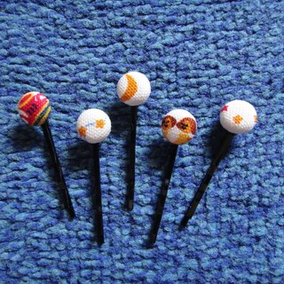 (C) cloth button-star country _ small hairpin C20ASZ19