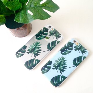 Summer leaves Pattern (Left) Print Soft / Hard Case for iPhone X,  iPhone 8,  iPhone 8 Plus,  iPhone 7 case, iPhone 7 Plus case, iPhone 6/6S, iPhone 6/6S Plus, Samsung Galaxy Note 7 case, Note 5 case, S7 Edge case, S7 case