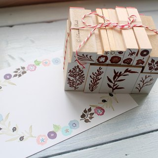 natural petit stamp set