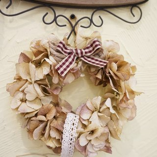 Dried wreath - Hydrangea