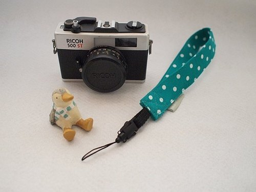 hairmo. Little blue-green (date) single hanging wrist camera / Polaroid / phone zone (hole)