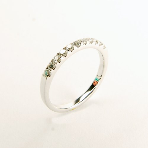 "Design your ""Love"" classic white diamond wire ring"