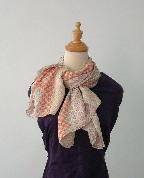 Printed pattern long scarf / batch shoulder Ana Maison # 1028 - Rainbow (subscript please Gou asked)