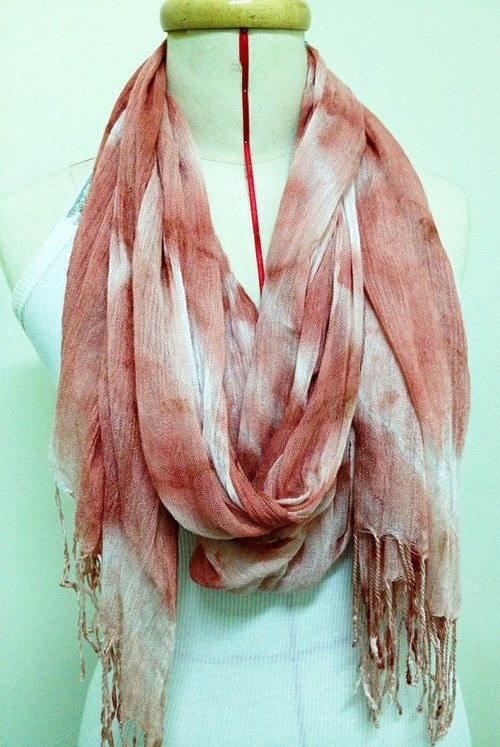 Madder dyed cotton scarves gradient (Hustle)