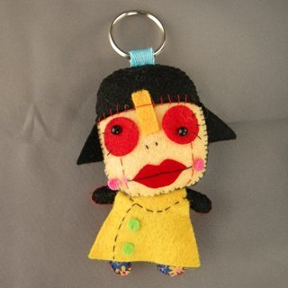 """Hello Super"" zombie woman (I see rich) Creative boredom Dolls Charm"