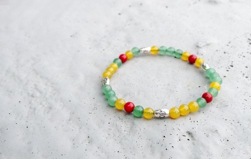 V-CIRCLE natural stone / brass bracelet - Rainbow Candy │ pleasure