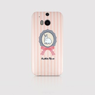 (Rabbit Mint) Mint Rabbit Phone Case - pink lace rabbit portrait series - HTC One M8 (P00043)