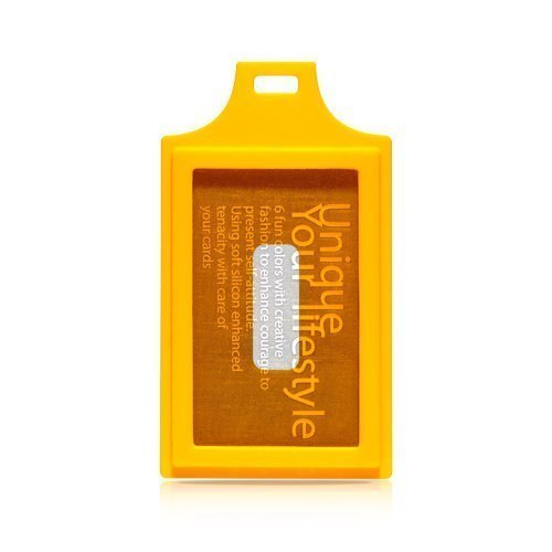 evouni silicone color shape Card Holder - Helter Skelter - yellow