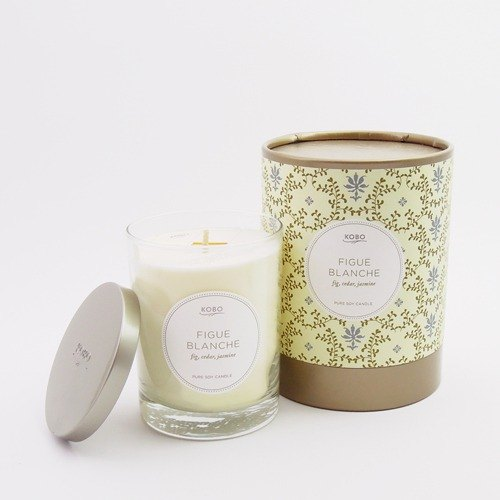 [KOBO - US soybean oil candles - pure figs (330g / combustible 80hr)