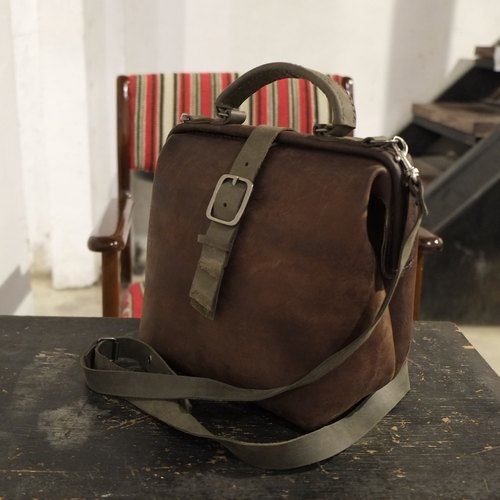 Lovey leather small objects / retro camera doctor bag - Pioneer 23 cm section