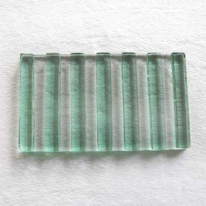 細直紋琉璃皂盤(綠)