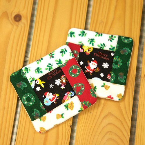 Christmas gifts - Christmas coaster set (of two)